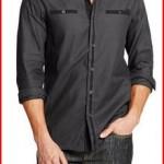 G by GUESS Men's Brent Long Sleeve-Shirt