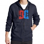 DC Mens Star Zh Fleece Zipped Hoodie