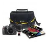 Nikon D3000 10 2 MP Digital SLR 6 Piece Bundle with 18 55mm and 55 200mm ED AF S DX Nikkor Zoom Lenses