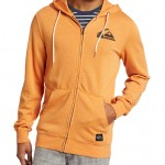 Quiksilver Mens Refresher Solid Full Zip Fleece With Self Hoodliner