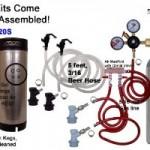 Cornelius Homebrew Kegerator Kit Dual Keg Basic Kit with 5 CO2 and Kegs