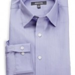 Kenneth Cole Reaction Mens Spread Collar Tonal Solid Woven Shirt