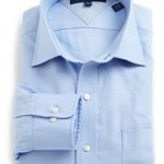 Tommy Hilfiger Mens Textured Slim Fit Solid Dress Shirt