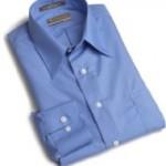 Van Heusen Mens Wrinkle Free Poplin Solid Shirt
