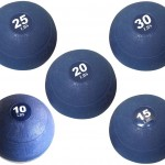 Apollo Athletics Slam Ball Set - 10-15-20-25-30 lbs. - Blue