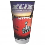 Creative Converting Arizona 20 Count Super Bowl 2015 Stadium Cups, 32-Ounce, Multicolored