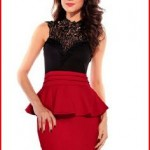Dear-lover Women's Entrancing Hollow-out Back Peplum Dress