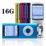 G.G.Martinsen 16 GB Slim 1.78 inch LCD Mp3 Mp4 Player Media, Music, Audio Player with accessories-Blue Color
