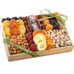 Golden State Fruit Pacific Coast Deluxe Dried Fruit Tray with Nuts Gift, 36 Ounce