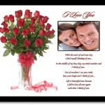 I Love You Gift for Wife, Husband, Girlfriend, Boyfriend - Love Poem with Rose Design - Add Photo