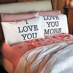 Love You and Love You More Pillowcases V-day Gift