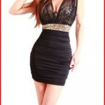 New Sexy Ladies Sequin Empire Waist See-through Mesh Sleeveless Party Dress