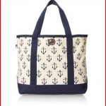 Tommy Hilfiger Canvas Anchor Print Large Shoulder Bag