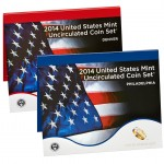 2014 US Mint Uncirculated Coin Set OGP