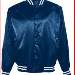 Augusta Sportswear 3610 Adult's Striped Trim Satin Baseball Jacket