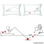 BOLDLOFT Catch My Heart Couple Pillowcases-Long Distance Relationship Gifts,Cute Couple Gifts,Romantic Anniversary Gifts,Valentine's Day Gifts,Gifts for Him,Gifts for Her