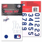 Baseball Softball Batting Helmet MLB Decal Kit Includes Official Team Logos Stickers, Major League Logo and Numbers