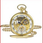 Charles-Hubert, Paris 3972-G Premium Collection Analog Display Mechanical Hand Wind Pocket Watch