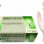 GREAT GLOVE 20010 fit-M-BX Latex Powder-Free fit 4.5-5 mil General Purpose Glove, Medium, Natural (Pack of 100)