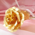 KDLINKS 24K 6 Inch Gold Foil Rose, Best Valentine's Day Gift, Handcrafted and Last Forever!