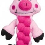 KONG Pudge Braidz Dog Squeaker Toy, Medium Large