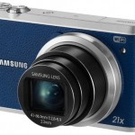 Samsung CMOS Smart WiFi and NFC Camera, 16.2MP, 21x Optical Zoom, Blue