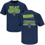 Seattle Seahawks Fans. BEAT New England Navy T-Shirt (S-5X)