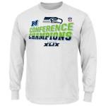 Seattle Seahawks Majestic 2014 NFC Conference Champions Locker Room L S T-Shirt