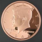 1 - 1964 Kennedy Half Design Copper Round Copper Uncirculated