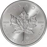 2015 CA Canada Silver Maple Leaf (1 oz) $5 BU Royal Canadian Mint