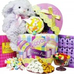 Art of Appreciation Gift Baskets Easter Egg-Stravaganza Chocolate and Candy Gift Box with Plush Bunny Rabbit