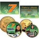 DANICA PATRICK Wisconsin Quarter & JFK Half Dollar US 2-Coin Set NASCAR LICENSED