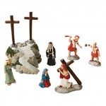 FEOTC Rugged Cross Scene - Easter Christian Religious Decoration