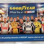 GOODYEAR NASCAR 2014 Poster 34x11 Original Limited Edition Mint 60th Anniversary