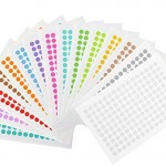 LabTag LT-9-A Cryogenic Color Dots, 0.35, Assorted (Pack of 1560)