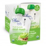 Plum Organics Tots Fruit and Grain Mish Mash, Apple Cinnamon, Oats and Quinoa, 3.17 Ounce Pouches (Pack of 12)