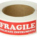 Tape Logic SCL202R Pressure Sensitive Label, Legend FRAGILE DELICATE INSTRUMENTS