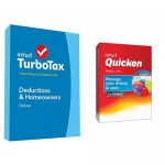 TurboTax Deluxe 2014 and Quicken Deluxe 2015 Bundle