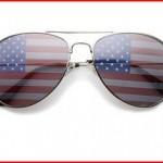 American Flag Mirror Sunglasses Glasses P&P Inc.