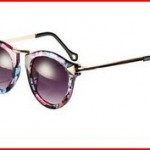 FUNOC Retro Vintage Fashion Unisex Round Arrow Style Metal Frame Sunglasses Eyewear