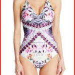 Nanette Lepore Women's Bollywood Goddess V-Neck One-Piece Swimsuit