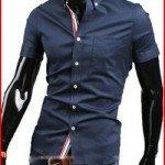 Summer Mens Casual Slim Fit Stylish Short Sleeve Dress Shirts 3 Colours 4 Size