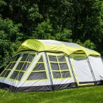 ahoe Gear Glacier 14 Person 3-Season Family Cabin Camping Tent w Rain Fly