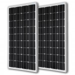 2pcs RENOGY 100 Watt 100w Monocrystalline Photovoltaic PV Solar Panel Module 12V Battery Charging