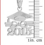 925 Sterling Silver Diploma & Cap Charm 2015 Graduation Charm Pendant