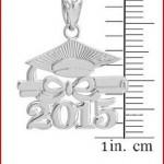925 Sterling Silver Diploma & Cap Charm 2015 Graduation Charm Pendant