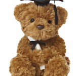 Aurora World Graduation Bear Plush, Black Cap, 8.5