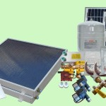 Complete 2 Panel GH Type Freeze Protected Hybrid Solar Water Heater Kit