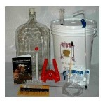 Gold Complete Beer Equipment Kit with 5 Gallon Glass Carboy