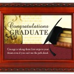 Graduation Congratulations Woodgrain Inspirational Traditional Music Jewelry Box Plays Pomp & Circumstance